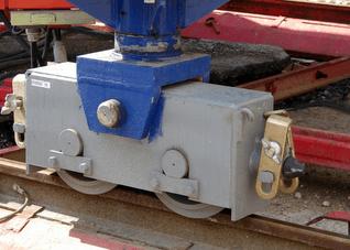 Boggies d'une grue sur rails