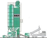 Centrale à silo vertical d'agrégats