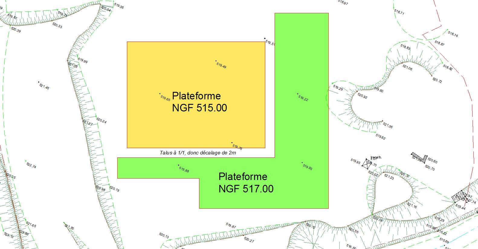 Le plan de terrassement m thodes btp - Les cotes d un plan ...