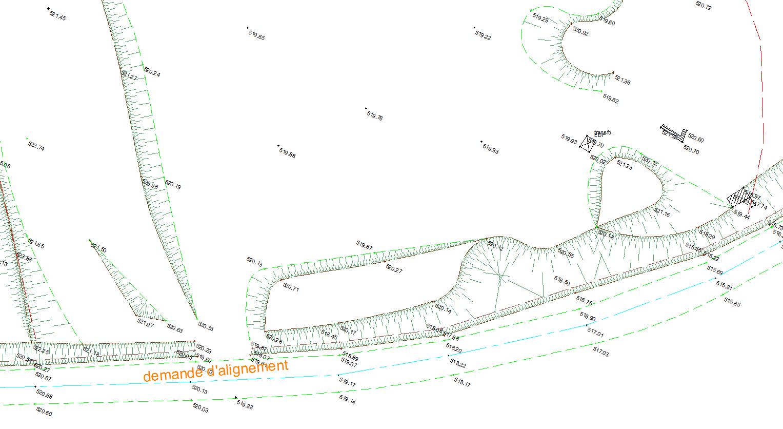 Un plan topographique