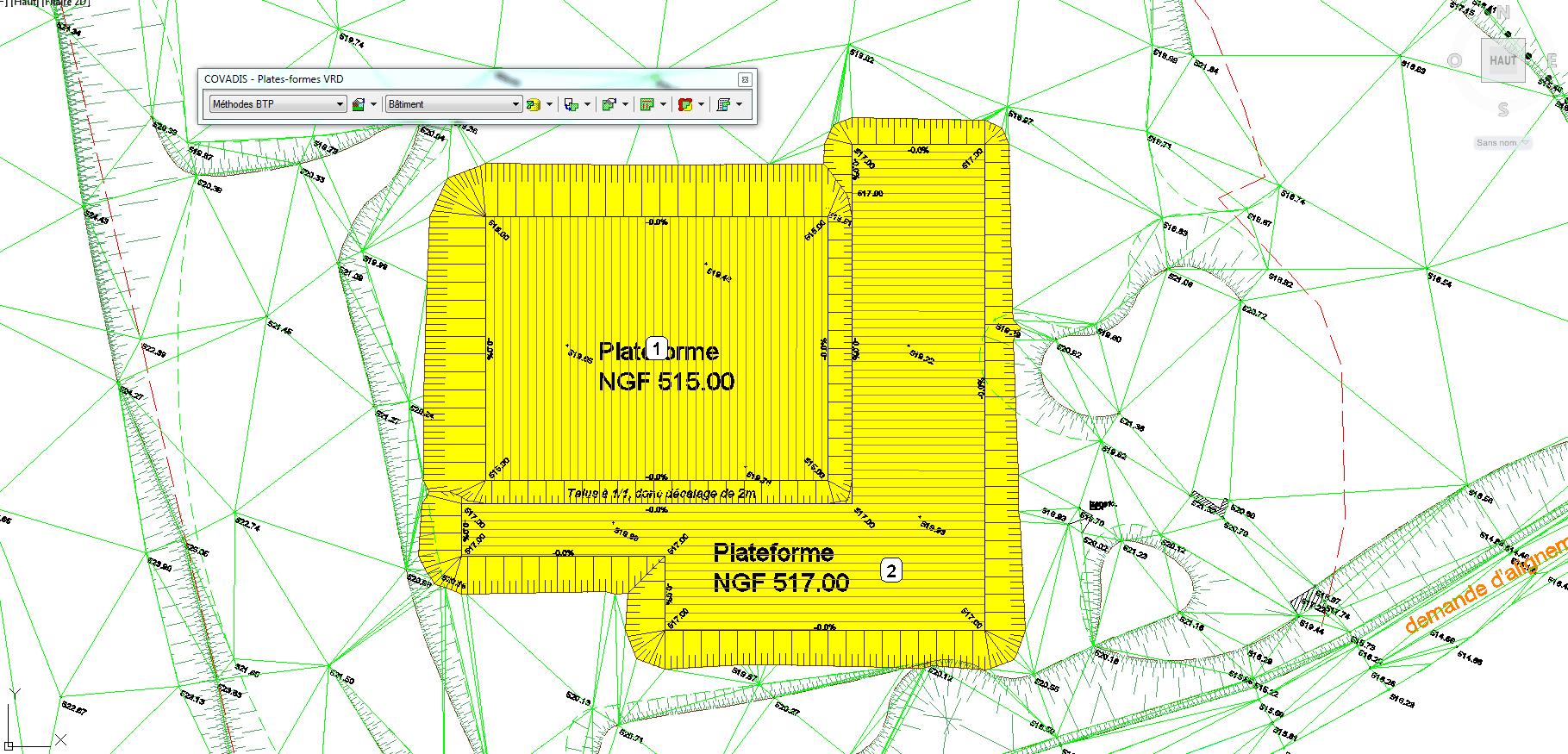 Le plan de terrassement m thodes btp for Dessiner un plan 2d