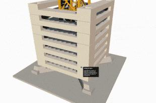 Modèle 3D d'une grue à tour