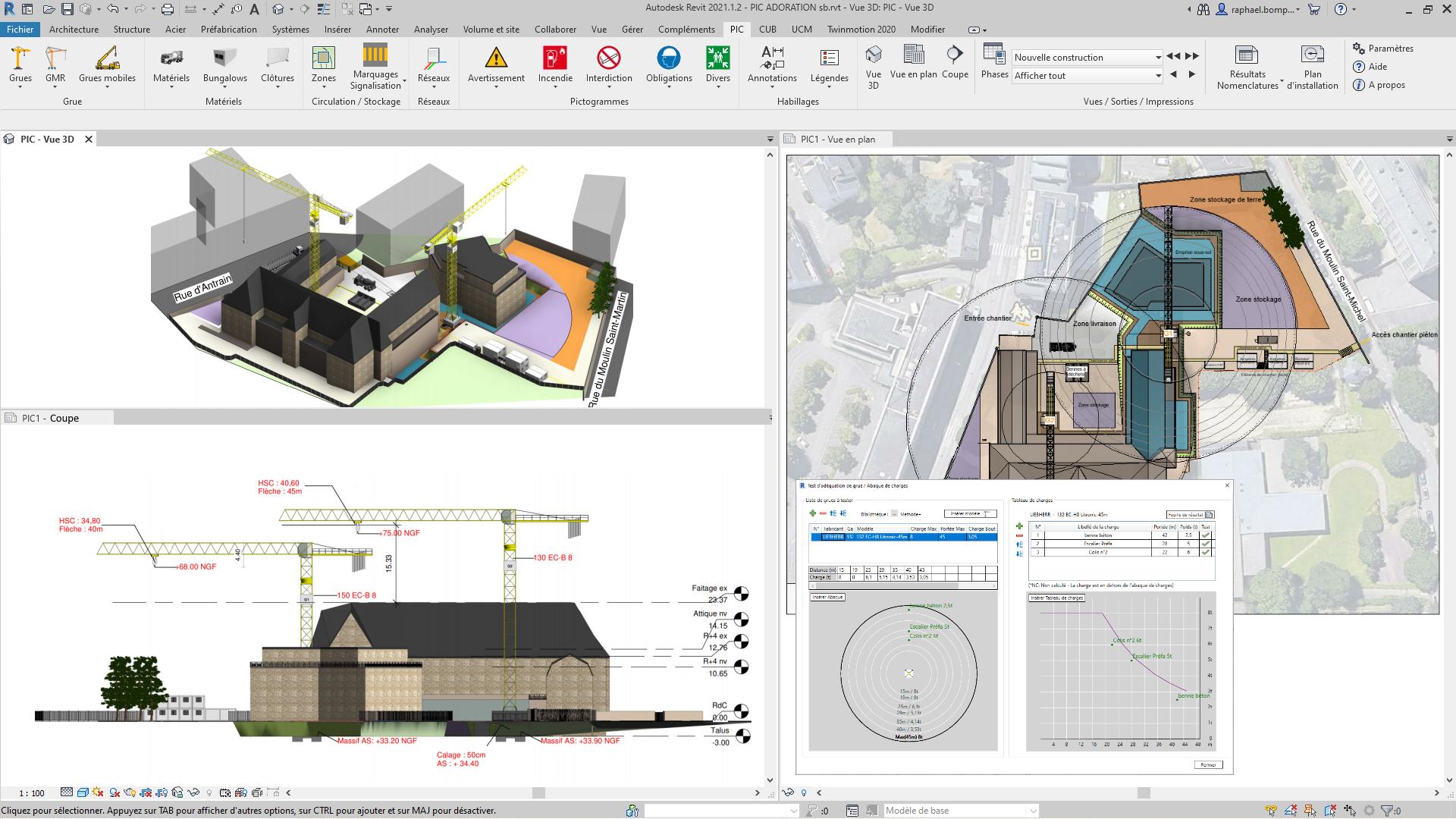 Modélisation d'une installation de chantier 3D sur le logiciel Méthodes+ de So.build